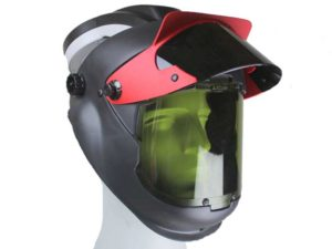 Volgelaatsmasker met luchttoevoer & Lasvizier – Arbin Safety Kite Welding