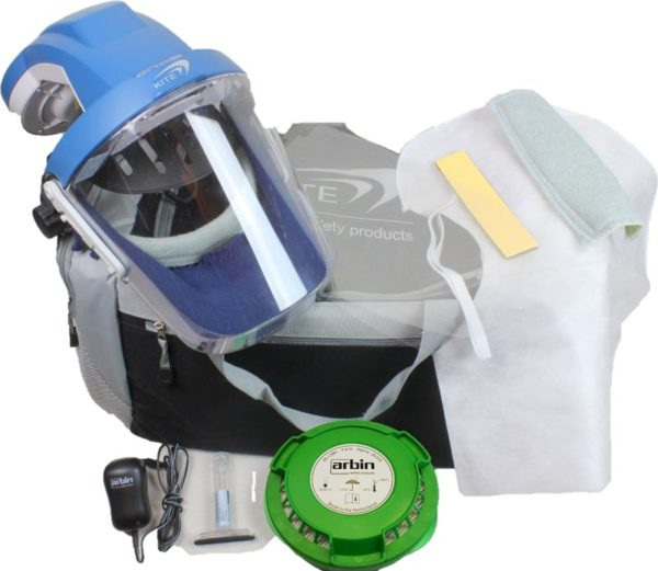 Volgelaatsmasker met luchttoevoer Kite Arbin Safety Complete Set