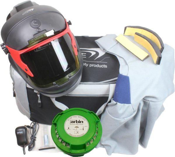 Volgelaatsmasker met luchttoevoer Lasvizier – Arbin Safety Kite Welding Complete Set