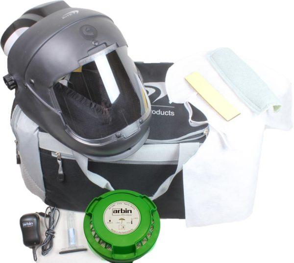 Volgelaatsmasker met luchttoevoer & glashelder – Arbin Safety Kite Opti Set